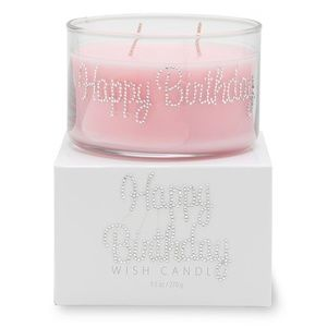 HAND BEJEWELED SCENTED HAPPY BIRTHDAY CANDLE